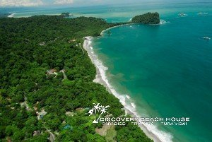 Aerial view of beaches within minutes of Discovery Beach House, Costa Rica
